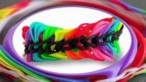 TUTO  bracelet élastique rainbow loom triple chaine sans machine