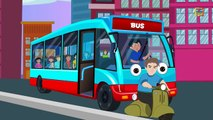 Ruedas en el autobús | Cartoon para los niños | canción infantil popular | autobús Amarillo