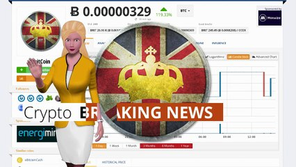 Cryptocurrency BritCoin $BRIT Gained 119% In the Last Day