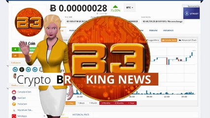 Cryptocurrency B3 Coin $B3 Gained 75% During the Last Day