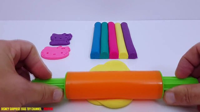 Fun Learning Colours Glitter Play Dough Hello Kitty & Miffy Rabbit Cookie Cutters creative