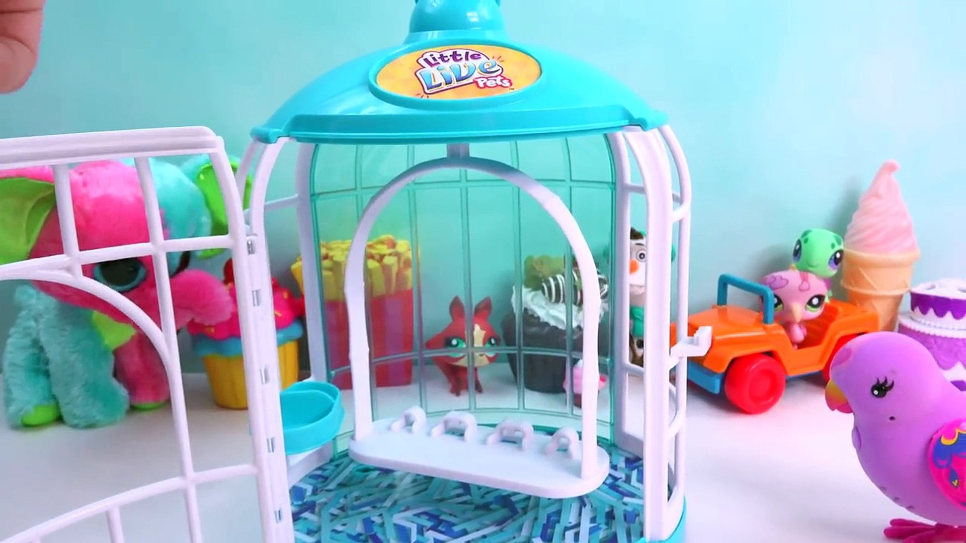 Talking Little Live Pets Beauty Bella Song Sining Love Birds Cage Playset Cheeky Charlie R
