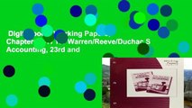 Digital book  Working Papers, Chapters 1-17 for Warren/Reeve/Duchac S Accounting, 23rd and