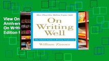 View On Writing Well, 30th Anniversary Edition Ebook On Writing Well, 30th Anniversary Edition Ebook