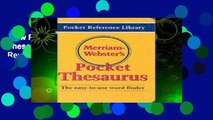 New Releases Merriam Webster s Pocket Thesaurus (Pocket Reference Library)  Review