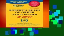 About For Books  Robert s Rules of Order Newly Revised In Brief, 2nd edition (Roberts Rules of