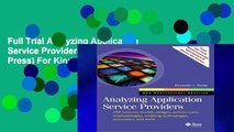 Full Trial Analyzing Application Service Providers (Sun Microsystems Press) For Kindle