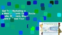 Get Trial Marketing in a Web 2.0 World: Using Social Media, Webinars, Blogs   More to Boost Your