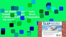 Best ebook  Clep(r) Human Growth   Development Book + Online (CLEP Test Preparation)  For Kindle