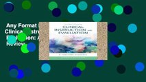 Any Format For Kindle  Clinical Instruction   Evaluation: A Teaching Resource  Review