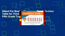 About For Books  Classroom-Ready Number Talks for Third, Fourth and Fifth Grade Teachers: 1000