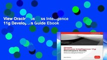 View Oracle Business Intelligence 11g Developers Guide Ebook