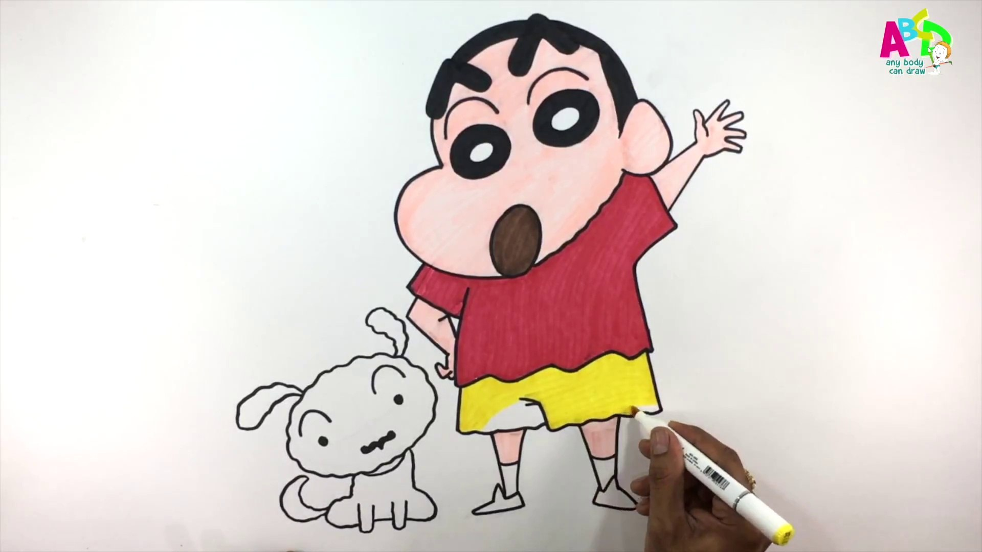 How To Draw Shin Chan Ii Learn To Draw Color Shin Chan In Easy Steps Abcdanybodycandraw Video Dailymotion