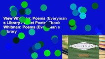View Whitman: Poems (Everyman s Library Pocket Poets) Ebook Whitman: Poems (Everyman s Library