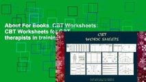 About For Books  CBT Worksheets: CBT Worksheets for CBT therapists in training: Formulation