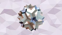 многогранник - Большой додеко-икосо-додекаэдр, polyhedron - Great dodec-icosi-dodecahedron