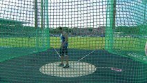 Georgios Koniarakis throws 55.87m in the discus finals in of the European Junior Chapmionships