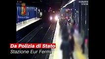 Spinge una donna sotto il treno a Roma e scappa via (IL VIDEO) - Notizie.it