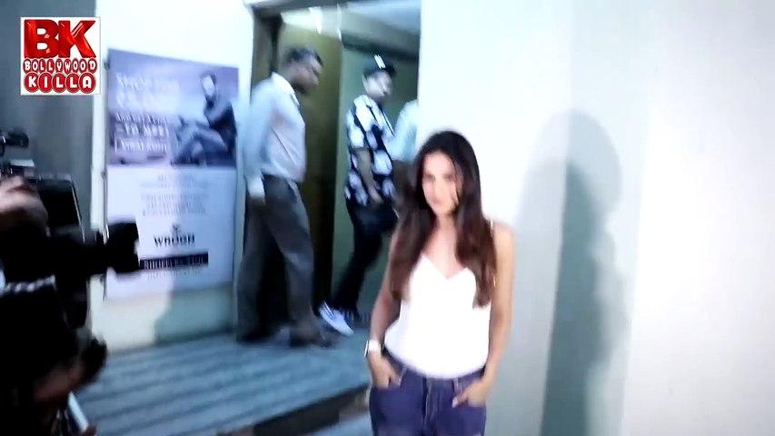 Actress  At The Screening Of English Medium Movie