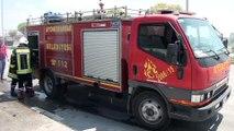 Seyir halindeki otomobil yandı - AFYONKARAHİSAR