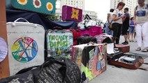 New York : Une valise pour sensibiliser aux expulsions d'immigrés