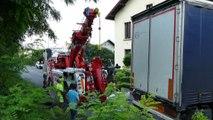 Savoie / Cognin : un camion dans une mauvaise posture