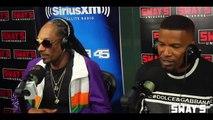 Impro de Rap entre Snoop Dogg et Jamie Foxx !! Super freestyle en direct à la radio !