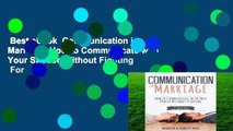 Best ebook  Communication in Marriage: How to Communicate with Your Spouse Without Fighting  For