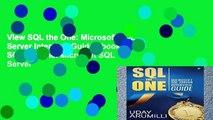 View SQL the One: Microsoft SQL Server Interview Guide Ebook SQL the One: Microsoft SQL Server