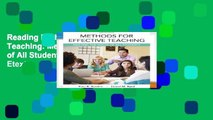 Reading Methods for Effective Teaching: Meeting the Needs of All Students, Enhanced Pearson Etext