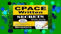 About For Books  Cpace Written Secrets Study Guide: Cpace Test Review for the California