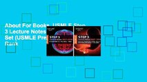 Full E-book USMLE Step 1 Lecture Notes 2019: 7-Book Set Best