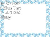 JACKPOT Castle Low Loft Stairway Bed with Slide Red  Blue Tent and Tower Loft Bed Twin