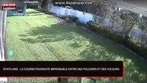 États-Unis : Une course-poursuite improbable entre des policiers et des voleurs dans un jardin (Vidéo)