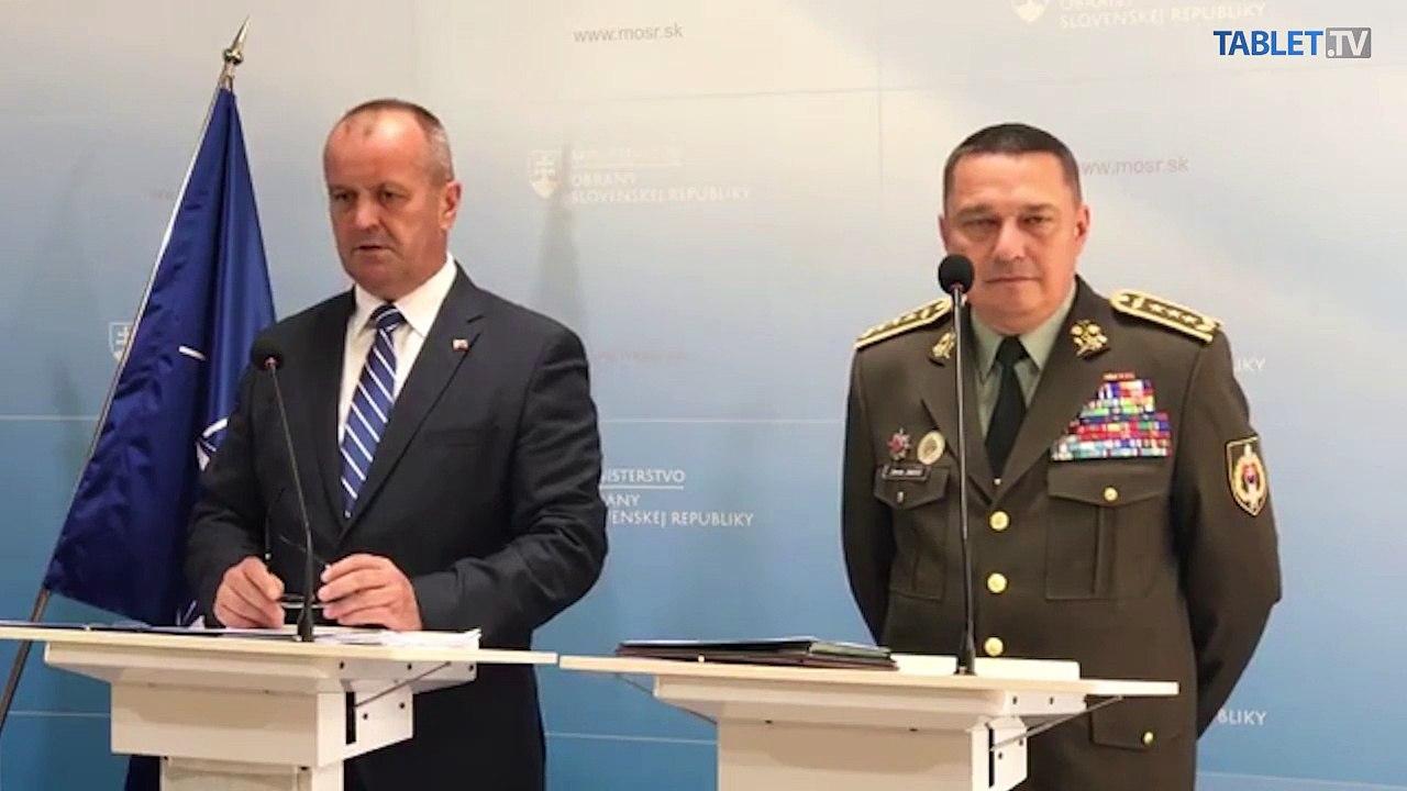 ZÁZNAM: Tlačové vyhlásenie ministra obrany SR Petra Gajdoša