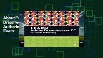 About For Books  Learn Adobe Dreamweaver CC for Web Authoring: Adobe Certified Associate Exam