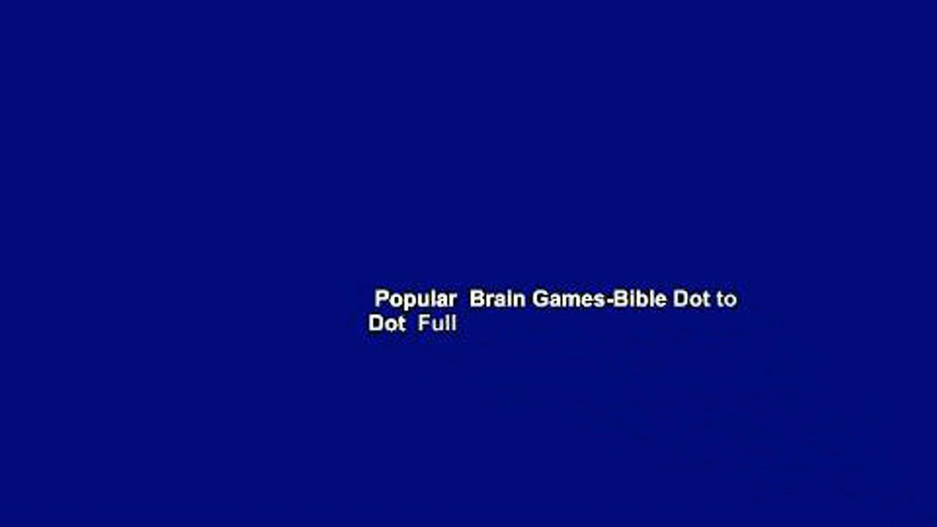 Popular  Brain Games-Bible Dot to Dot  Full