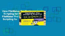 View FileMaker Pro Design   Scripting for Dummies Ebook FileMaker Pro Design   Scripting for