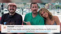 Adam Sandler And Jennifer Aniston Film Netflix Murder Mystery In Italy