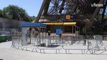 Grève : Les touristes déçus de trouver la tour Eiffel fermée