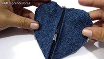 Reciclaje de Jeans: Monederos de Corazón