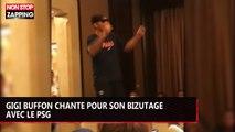 Gigi Buffon chante pour son bizutage avec le PSG (vidéo)
