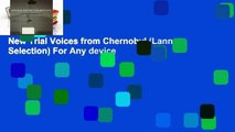 New Trial Voices from Chernobyl (Lannan Selection) For Any device
