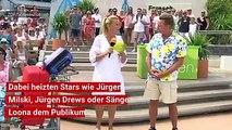 """Am vergangenen Sonntag stand der ZDF-""""Fernsehgarten"""" unter dem Motto """"Mallorca-Party"""". Stars wie Jürgen Milski, Sängerin Loona oder Jürgen Drews heizten mit ihr"""