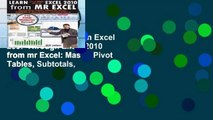 Unlimited acces Learn Excel 2007 Through Excel 2010 from mr Excel: Master Pivot Tables, Subtotals,