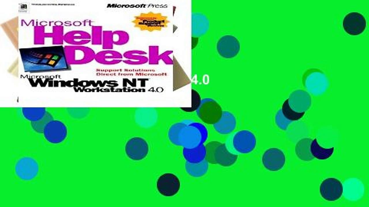 [book] New Help Desk for Windows NT4 Workstation 4.0