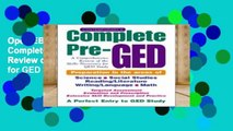 Open EBook Contemporary s Complete Pre-GED: A Comprehensive Review of the Skills Necessary for GED