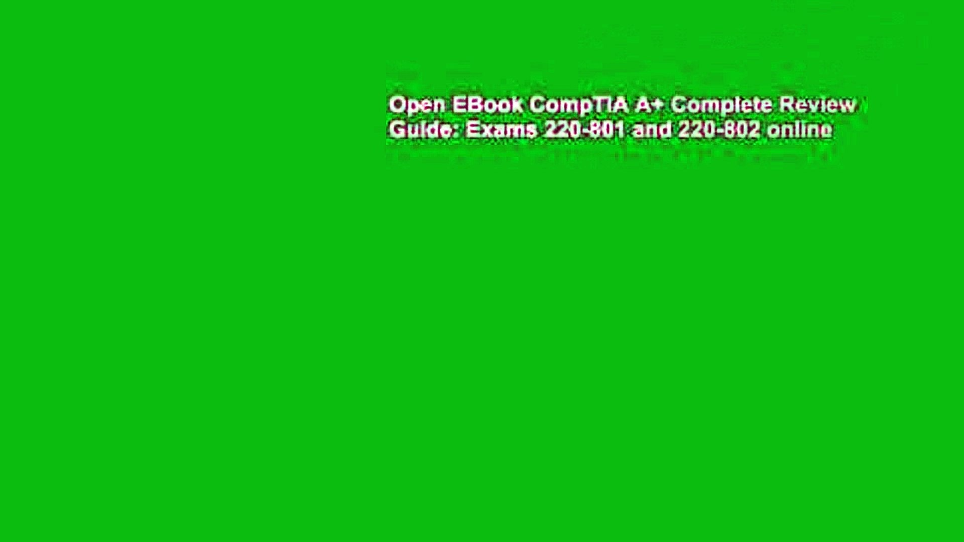 Open EBook CompTIA A+ Complete Review Guide: Exams 220-801 and 220-802 online