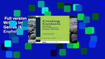 Full version  Creating Contexts: Writing Introductions Across Genres (Michigan Series in English