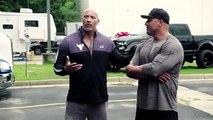 Dwayne The Rock Johnson fait un cadeau d'une voiture à son double cascadeur
